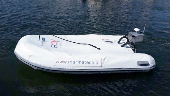 Maritime surveillance by waterborne drone